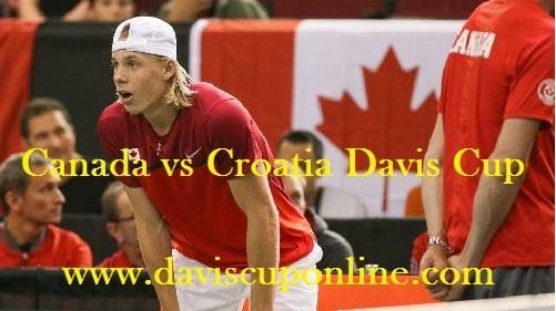 Watch Canada vs Croatia Davis Cup Live