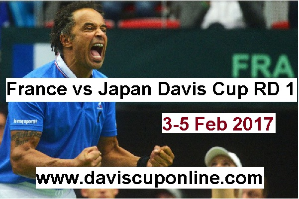 Watch France vs Japan First Round Davis Cup Live