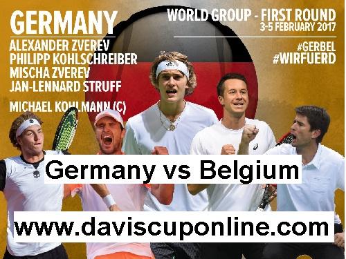 Belgium vs Germany 1st Round 2017 Davis Cup Live Online