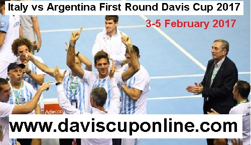 Italy vs Argentina First Round Davis Cup 2017 stream